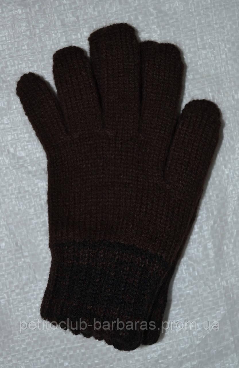 Перчатки для мальчика  Greg коричневые (MargotBis, Польша)