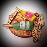 Новогодний магнит с 2 бутылками круг, фото 6