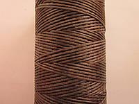 Нить вощёная плоская 0,55 мм коричневая 100 метров