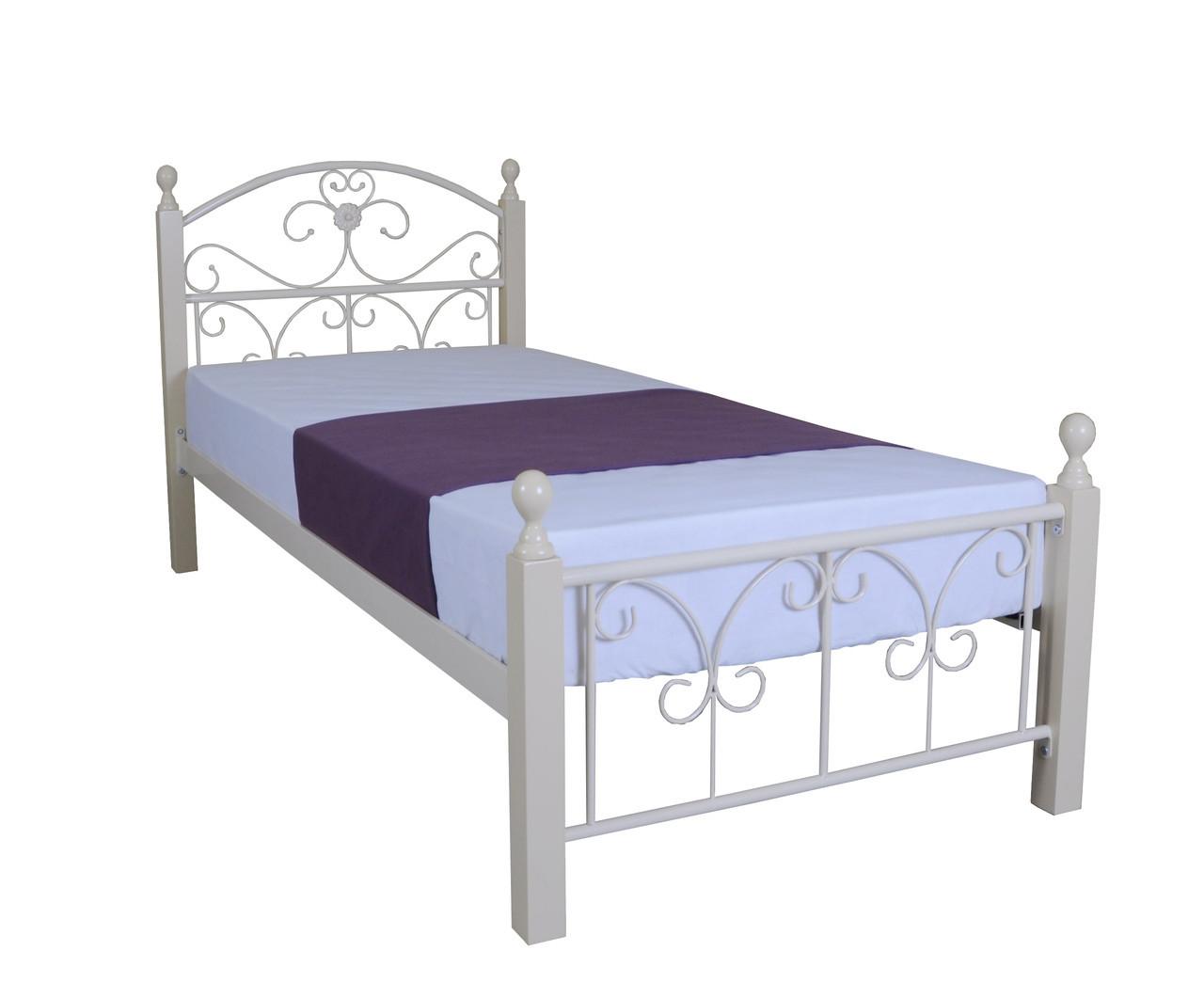 Кровать Патриция Вуд односпальная 190х90, бирюзовая