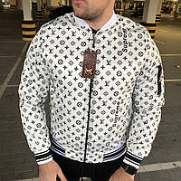 Мужская куртка Supreme x Louis Vuitton бомбер луи витон суприм белый реплика 10bb89f1bdd
