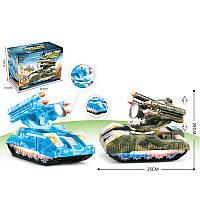 Танк батар. свет, 2 вида, игрушка-25*28см, в кор. 25,5*13,5*18см /48-2/(373-27A)