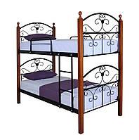 Кровать Патриция Вуд двухъярусная 190х90, бордовая