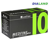 Иглы Веллион Wellion MEDFINE plus для шприц-ручек 0,33мм (29G)*10мм