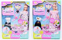"""Кукла """"Defa"""" 3 вида, беременная, 2 ребёнка, с одеждой, в кор. /24/(8009)"""