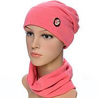 Набор шапка и шарф TRK1702 коралловый