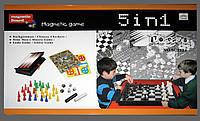Набор настольных игр SC5524 5 в 1 с магнитной доской