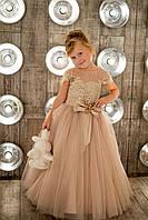 Нарядное платье Silk Road 00037-18 110-116 см бежевое