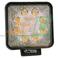24W / 60 (8 x 3W / широкий луч,квадратный корпус) 1680 LM LED фара рабочая 1036 (GY-008Z03A)