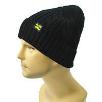 Мужская шапка зимняя Black черная опт