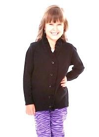 Кофта для школьницы  черного цвета, фото 1
