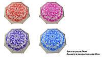"""Зонт """"Цветок"""" 4 вида, высота трости-74см, диаметр в раскрытом виде-85см /100/(CLG17093)"""