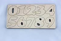 Цифры деревянные 0-9. Заготовка для Бизиборда по методике Монтессори, фото 1