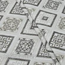 Декоративная ткань, ромб серый