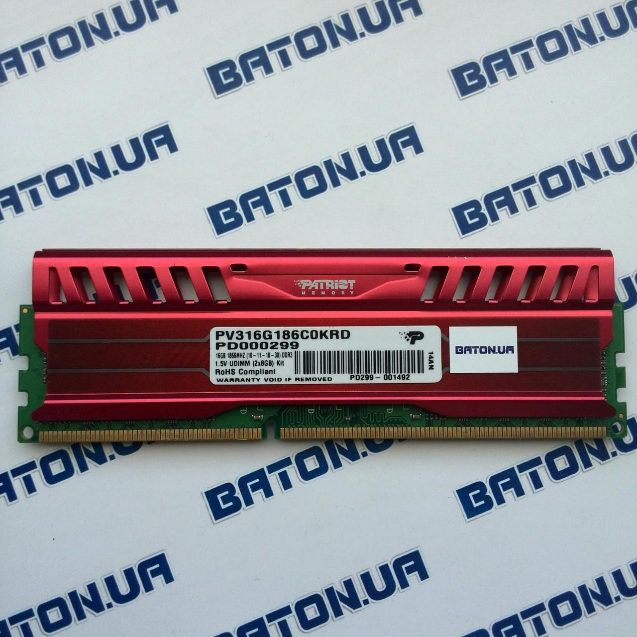 Игровая оперативная память Patriot Viper DDR3 8Gb 1866MHz PC3 15000U CL10 (PV316G186C0KRD)