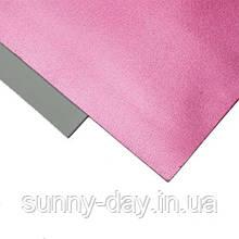 Фоамиран Металлик, цвет - розовый