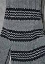 Перчатки для мальчика Big серые в темно-серые полоски (MargotBis, Польша), фото 2