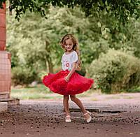 Детская пышная юбка американка pettiskirt Красная