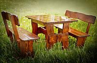 Производство столов из массива дерева 2000*800, столы и стулья для дачи, фото 1