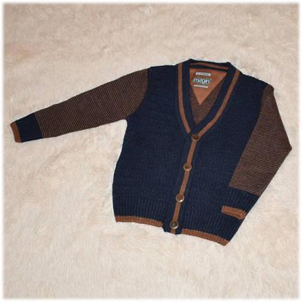 Свитер полушерсть для мальчика синий на пуговицах Турция размер 110 116 122 128 134 140 146 152, фото 2