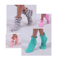 Теплые носочки - тапочки для дома Махровые сапожки
