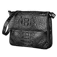 Сумка Ekzotic Leather из натуральной кожи крокодила Черная   (cb 06)