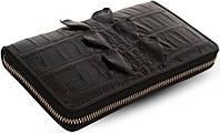 Кошелек-клатч Ekzotic Leather из натуральной кожи крокодила Черный   (cw 38), фото 1