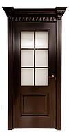 Межкомнатная дверь клен, цвет Черный со старением. Серия 130