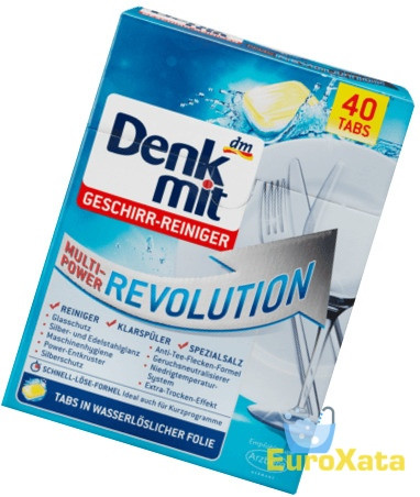 Таблетки для посудомоечных машин Denkmit Multi-Power Revolution (40 шт) Германия