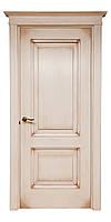 Двери межкомнатные клен, цвет Ваниль с коричневой патиной. Серия 110