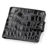 Портмоне Ekzotic Leather из натуральной кожи крокодила Черное   (cw 51), фото 1