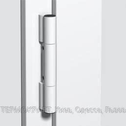Петля дверна Dr.Hahn KT-RN ПВХ 140 кг - кут наплаву профілю 0° біла RAL 9016