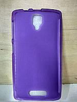 Силиконовый фиолетовый чехол Lenovo A1000