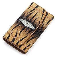 Кошелек женский Ekzotic leather из натуральной кожи морского ската Коричневый (stw 68), фото 1
