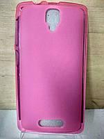 Силиконовый розовый чехол Lenovo A1000