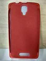 Силиконовый красный чехол Lenovo A1000
