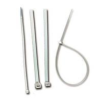 Стяжка кабельная прозрачная 98х2,5 полиамид 6.6, ELEMATIC