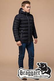 Мужская черная зимняя куртка с капюшоном (р. 46-56) арт. 15181А черный