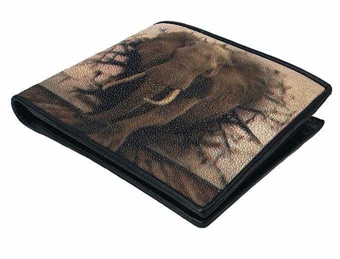 Кошелек Ekzotic leather из натуральной кожи морского ската   (stw 99)