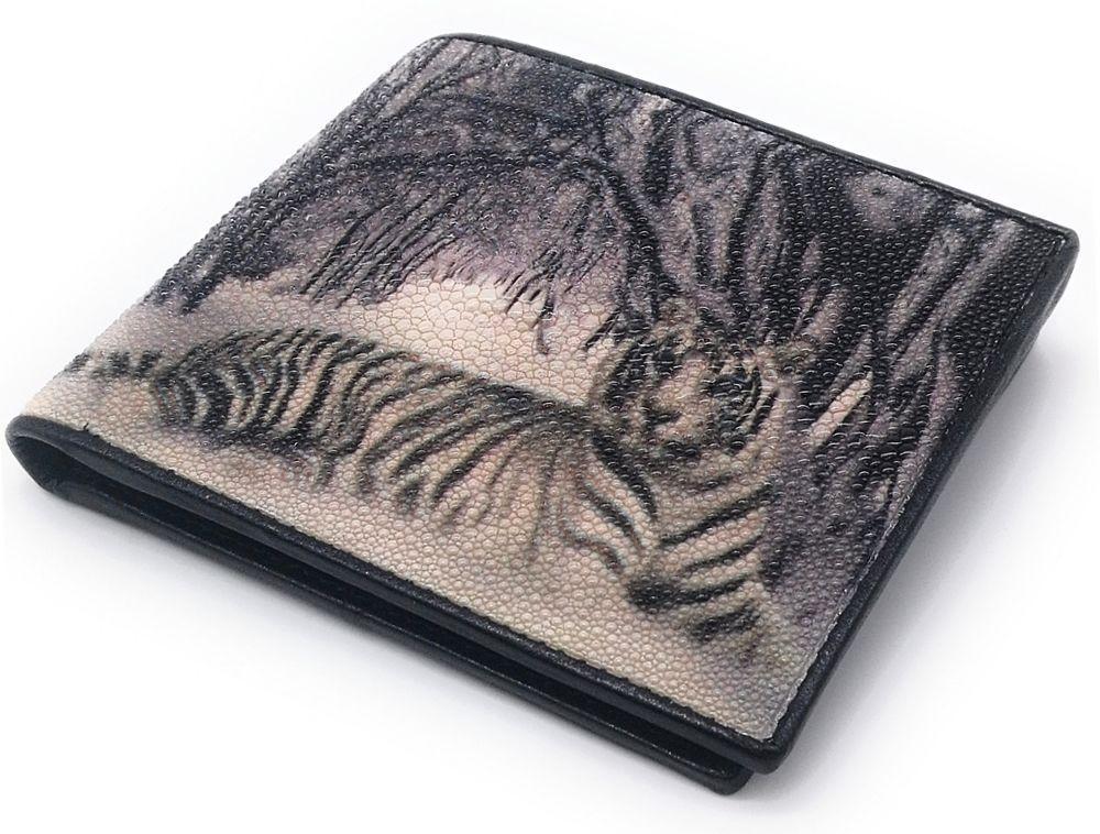 Кошелек Ekzotic leather из натуральной кожи морского ската   (stw 103)
