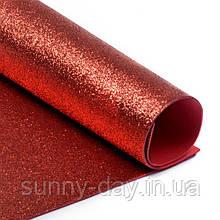 Фоамиран с Глиттером (блестящий), цвет - красный