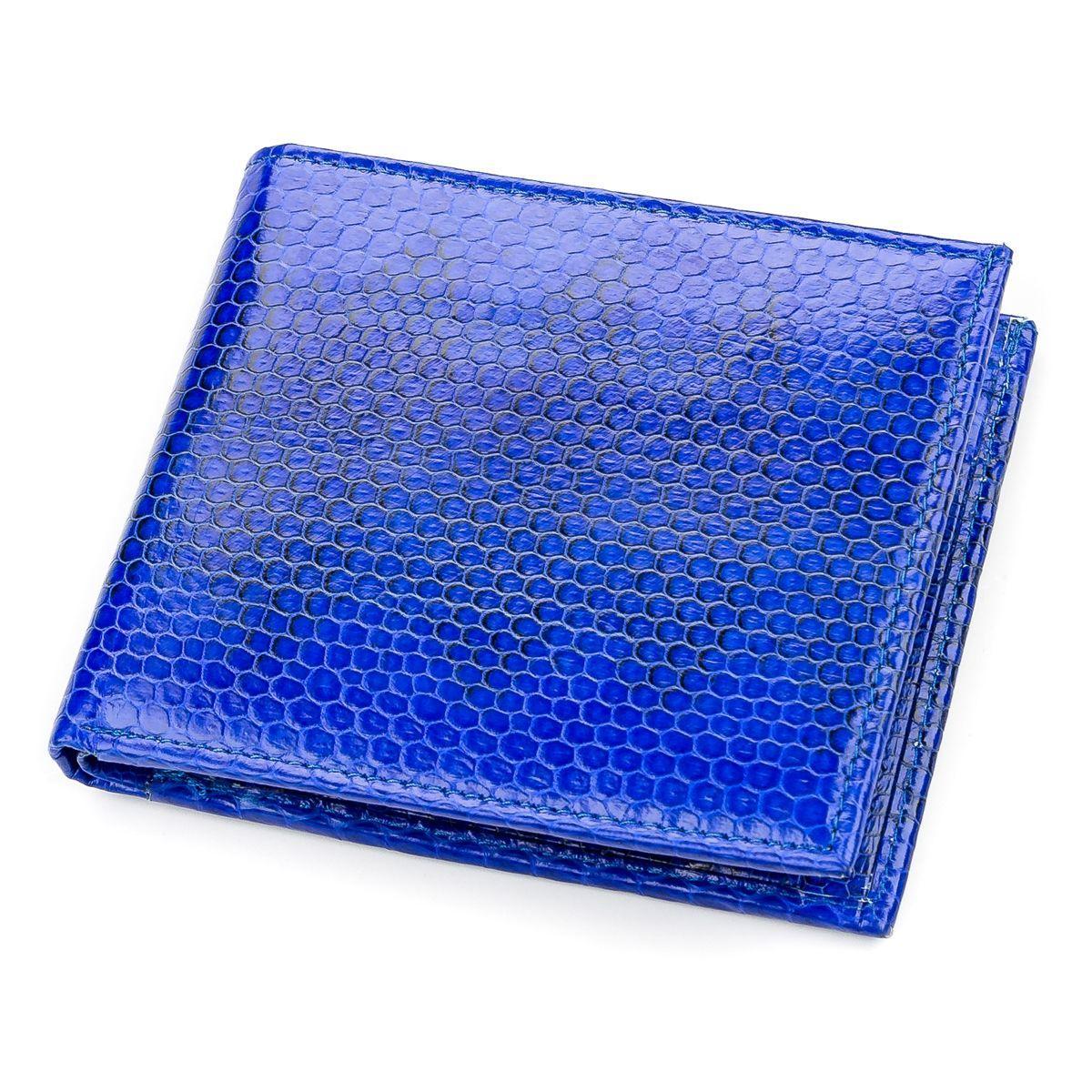 Кошелек  Ekzotic Leather из натуральной кожи морской змеи Синий (snw 35)