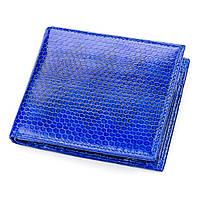 Кошелек  Ekzotic Leather из натуральной кожи морской змеи Синий (snw 35), фото 1