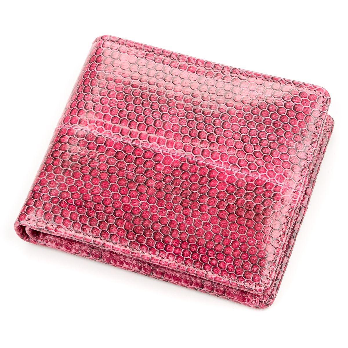 Кошелек  Ekzotic Leather из натуральной кожи морской змеи Розовый (snw 40)