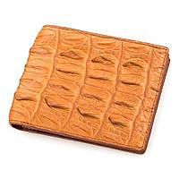 Кошелек Ekzotic Leather из натуральной кожи крокодила Коричневый   (cw 54), фото 1