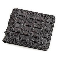 Портмоне Ekzotic Leather из натуральной кожи крокодила Черное   (cw 59), фото 1