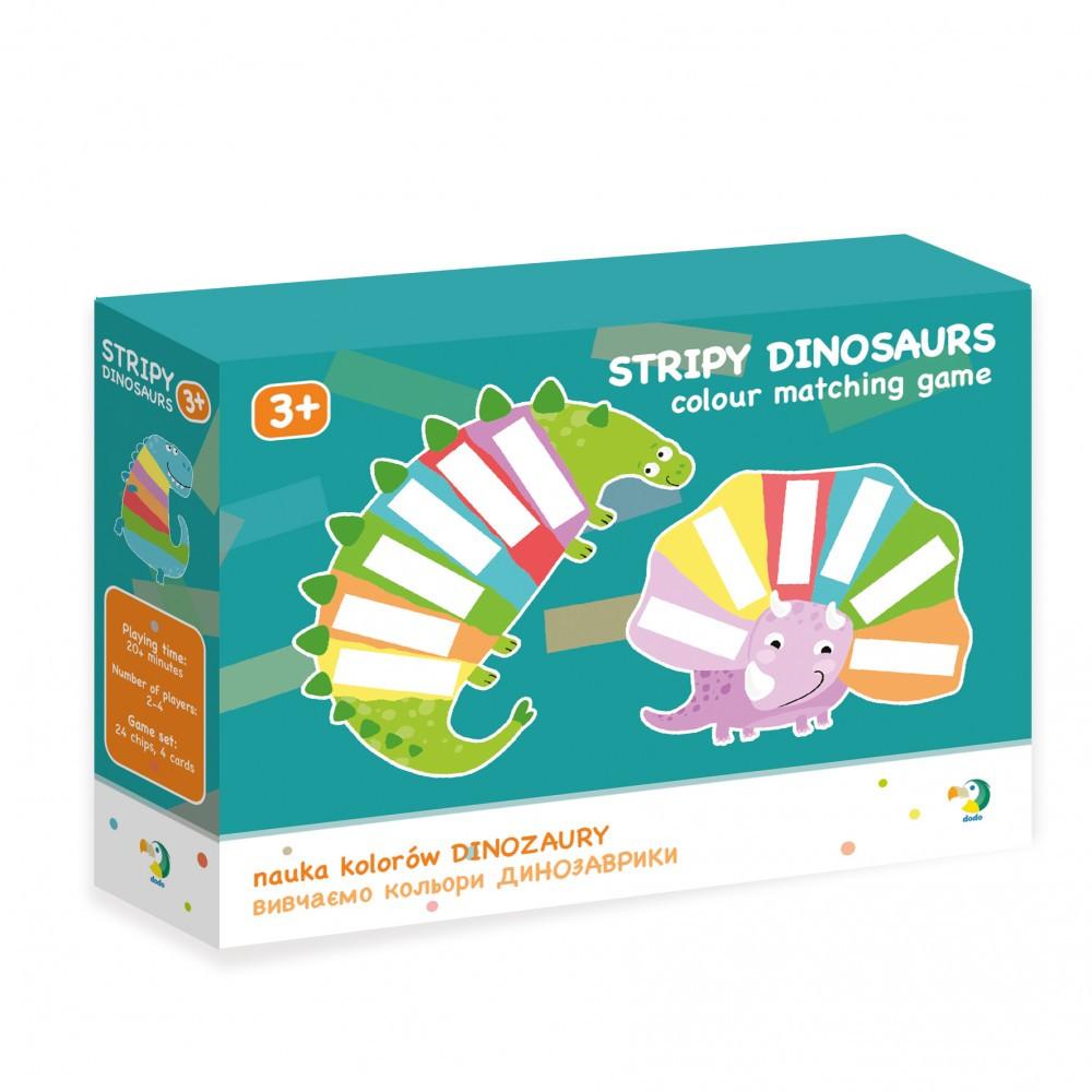 Смугасті динозаврики Вивчаємо кольори