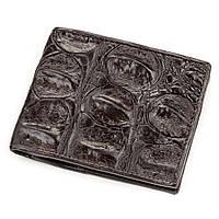 Портмоне Ekzotic Leather из натуральной кожи крокодила Коричневое   (cw 61), фото 1