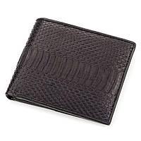 Портмоне Ekzotic Leather из натуральной кожи питона Черное   (snw 55), фото 1