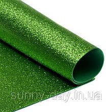 Фоамиран с Глиттером (блестящий), цвет - зеленый